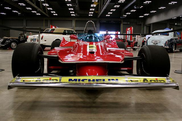 One of the racers on display at this weekend's Formula One expo.