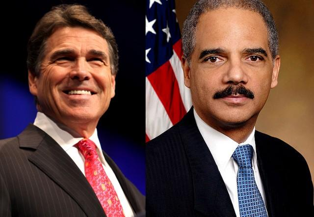 Gov. Perry took umbrage with Attorney Gen. Holder's recent Voter ID statements.