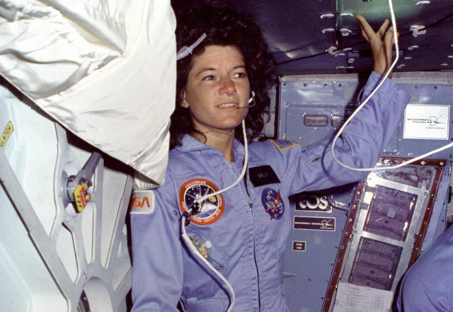 Astronaut  Ride, aboard the Challenger in 1983.