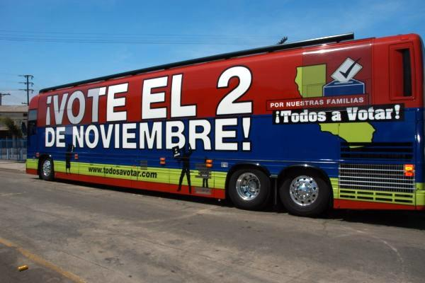 The ¡Todos a Votar! campaign will travel across the country to educate and register Latino voters.