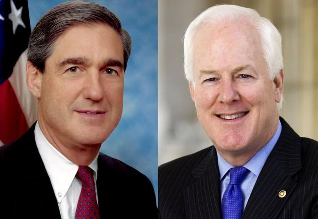Sen. John Cornyn (right) has asked FBI Director Robert Mueller (left) to make its findings in the Ft. Hood shooting public.