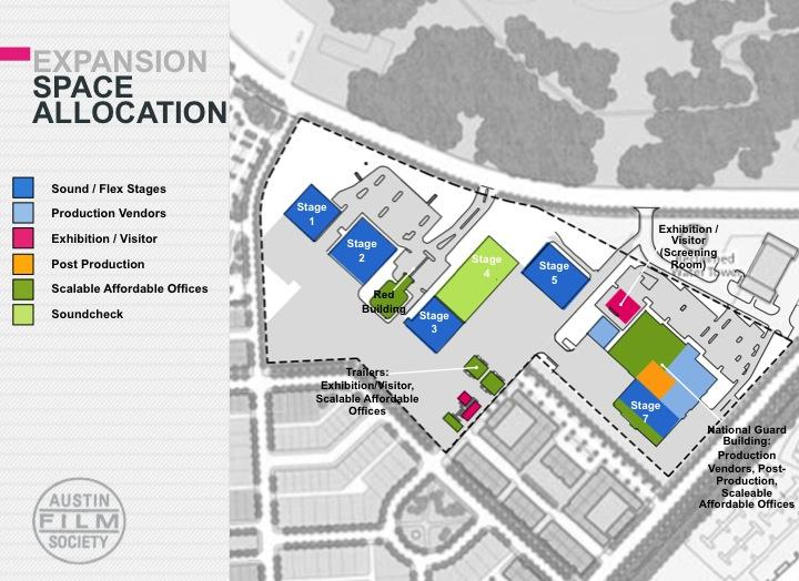 An overview of the proposed Austin Film Studios expansion.