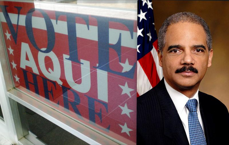 Holder believes the state's Voter ID bill would disenfranchise minority voters.