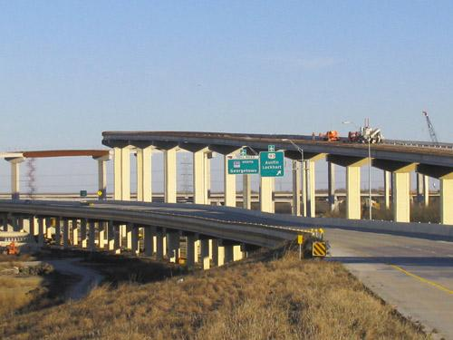 Construction of State Highway 130 is underway near its intersection with U.S. Highway 183 near Mustang Ridge.