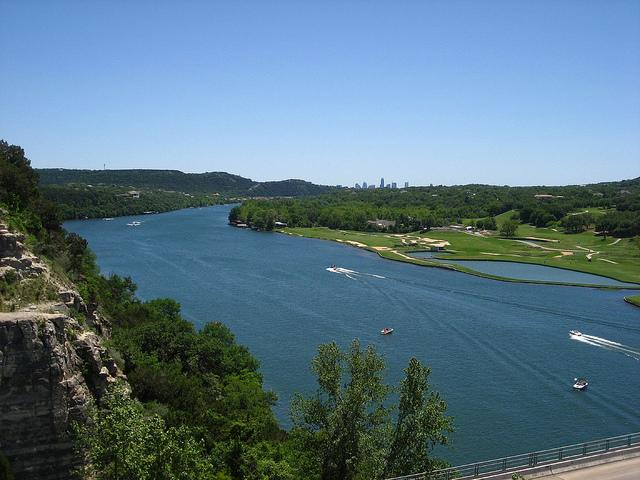 "High levels of blue green algae in Lake Austin may result in ""earthy"" smelling water."