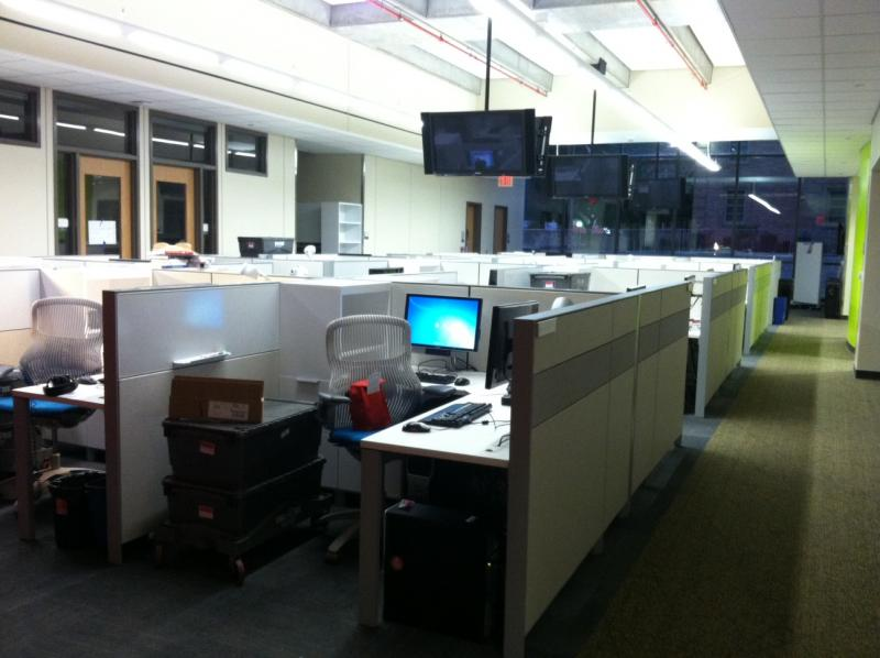 "A peek at the ""producer commons"" in the new KUT Public Media Studios."