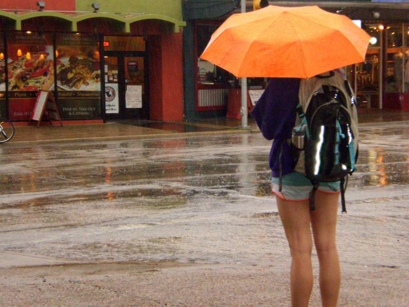 Austin received as much as five inches of rain last night, causing flooding, a few road closures, and power outages.