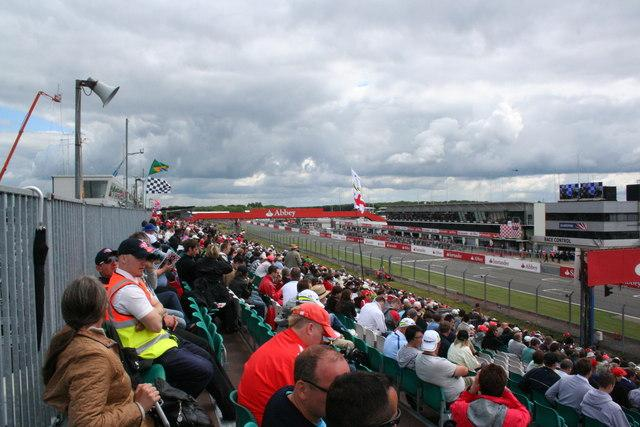 The Silverstone circuit in Northampton, England, in 2009.