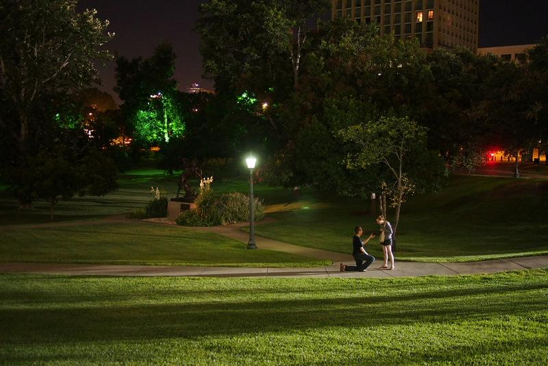 Images of an Austin marriage proposal ricocheted around the web this week.
