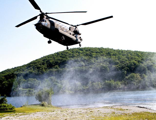 Perry is sending two CH-47 Chinook Helicopters (like the one pictured here) to help fight wildfires in North Texas.