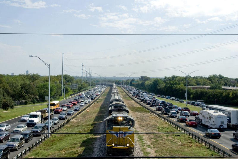 Traffic congestion - like this scene on MoPac -  can lead to ozone alerts.