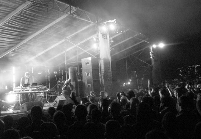 Electronic musician Kieran Hebden, aka Four Tet, at last year's Fun Fun Fun Fest.