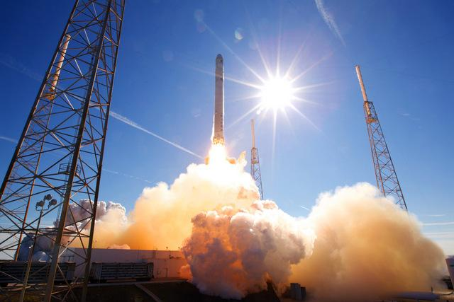 SpaceX may begin launching rockets in Texas. This launch, from 2010, was at Cape Canaveral.