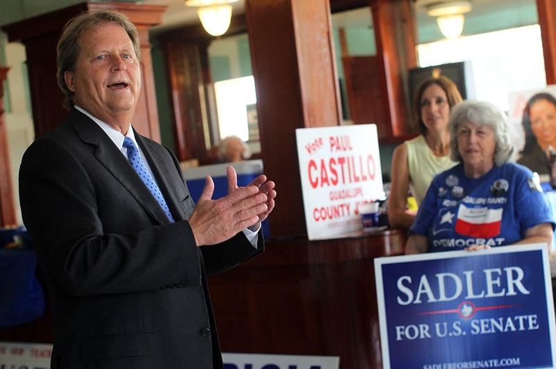 Paul Sadler makes an appearance at the Guadalupe County Democratic Headquarters, September 9, 2012.
