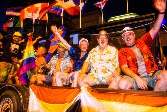 Austin PRIDE celebrants in 2008. The Austin celebration is in its second decade.