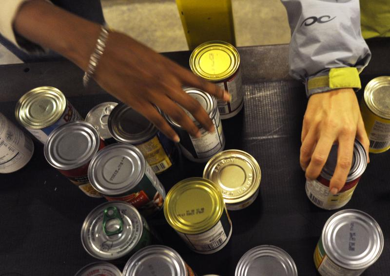 The United Way says the number of people asking about food banks is up by half.