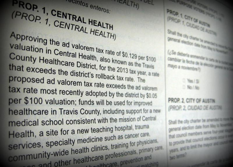 A legal battle is brewing over the ballot language for Central Health's Prop 1.