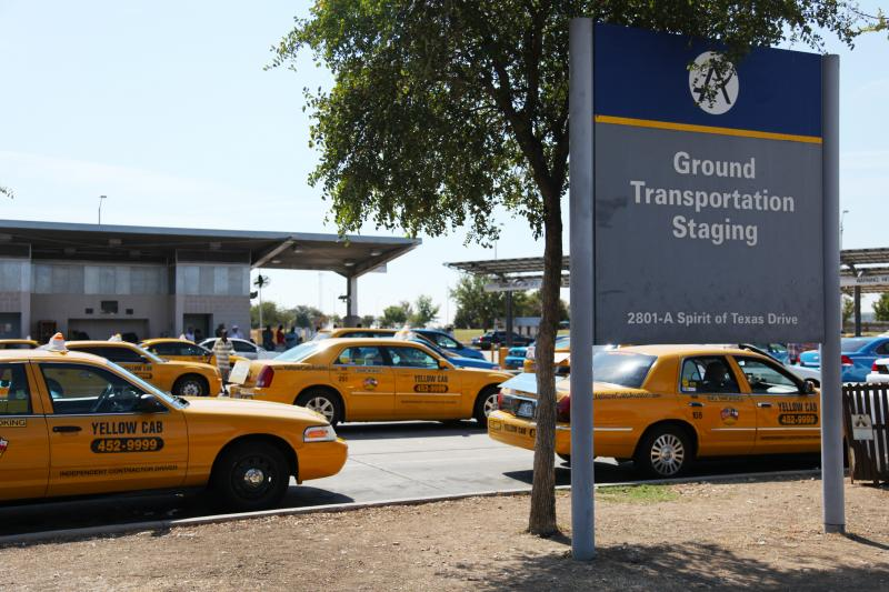 Cab drivers say that even business at the airport has declined with more drivers on the road.
