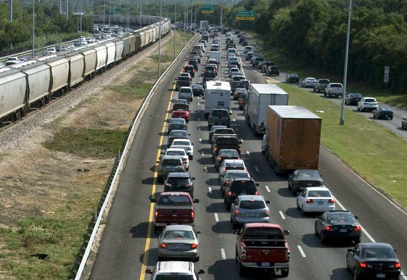 "A typical rush hour on MoPac. According to the city, Prop 12 would fund the ""improvement, construction and design"" of sidewalks, bridges and roads to help ease traffic."