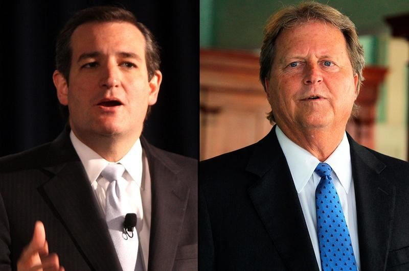 No hold were barred in the first of two debates between Republican Ted Cruz (L) and Democrat Paul Sadler (R).