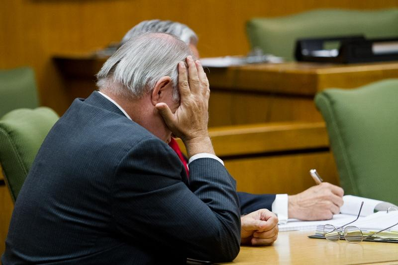 Williamson County State District Judge and former prosecutor Ken Anderson at the first hearing in the court of inquiry investigating his role in the 1987 wrongful conviction of Michael Morton.