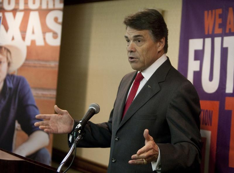 Gov. Rick Perry speaks discusses higher education in Texas at conference in Austin, Texas.