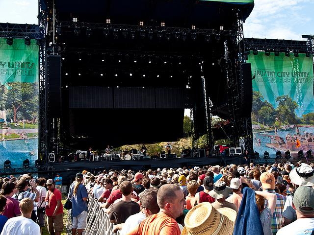Fans crowd a stage at the 2011 Austin City Limits Music Festival.