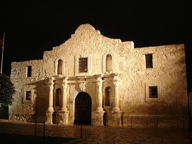 William B. Travis wrote the famous letter at the Alamo in 1836.
