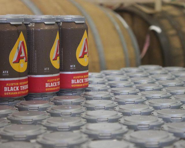 Freshly canned Black Thunder from Austin Beerworks. The local brewery will be at today's Texas Craft Brewers Festival.