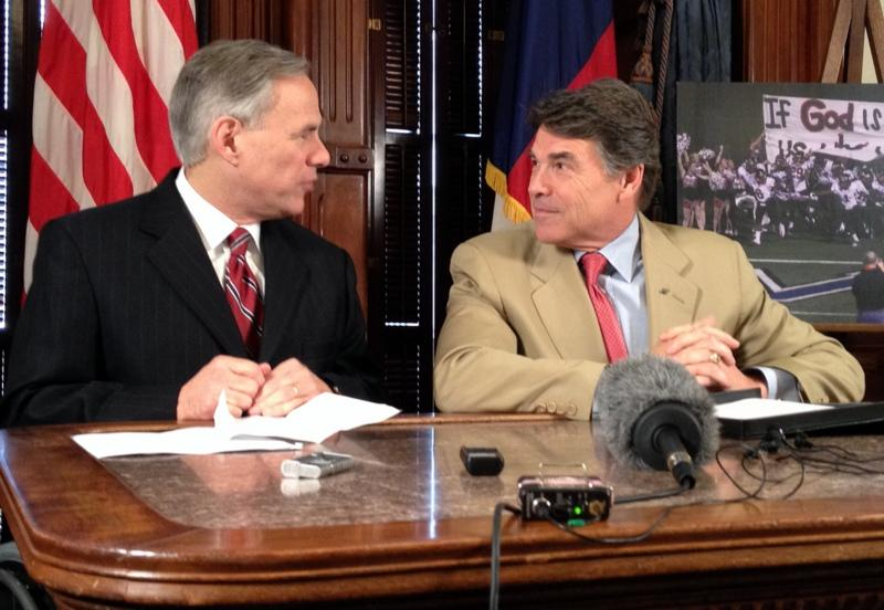 Attorney General Abbott and Gov. Perry met as friends today. We'll see where they are in 2014.