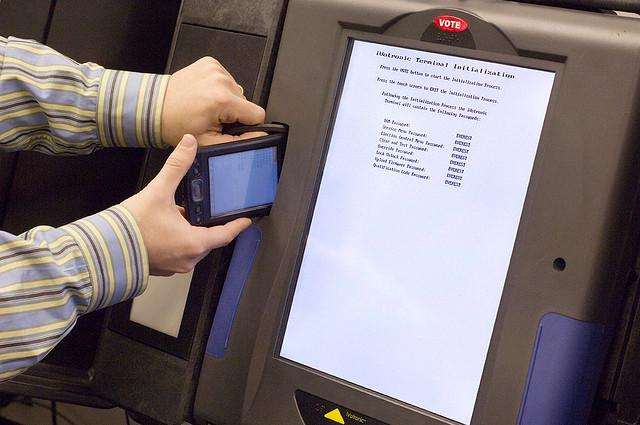 A technician was called to fix a voting machine in Williamson County.