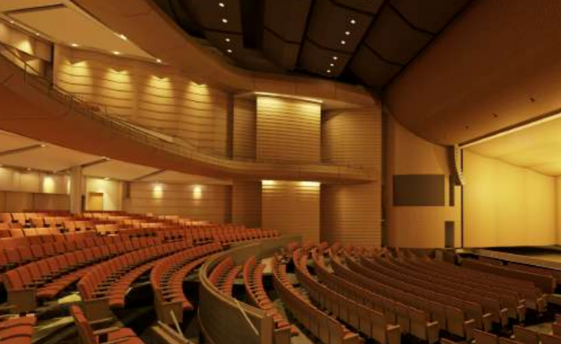 Artist's rendering of AISD's new performing arts center.