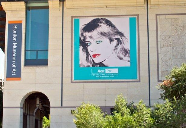 Another copy of Warhol's portrait was featured in a 2011 exhibit on the UT campus.