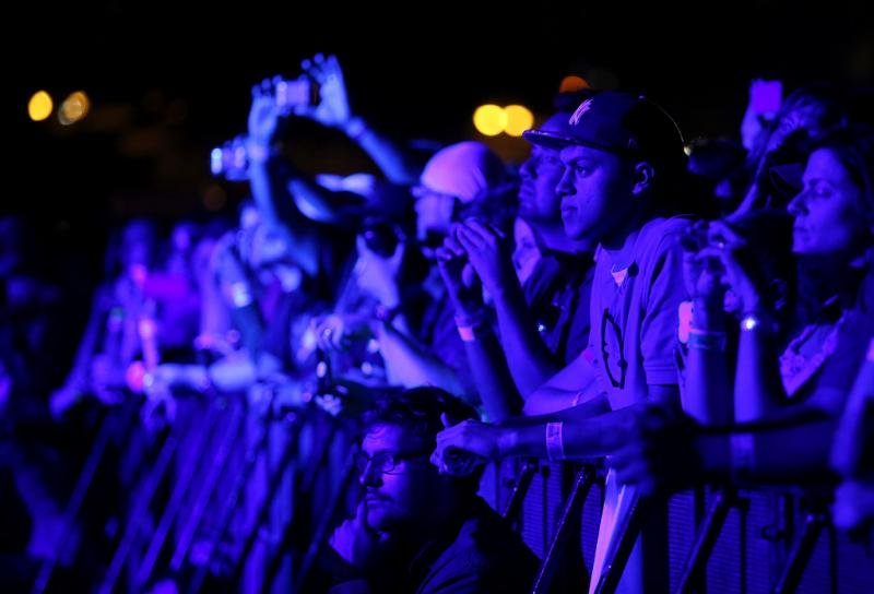 Crowds watch the stage on Fun Fun Fun Fest 2012's Friday night.