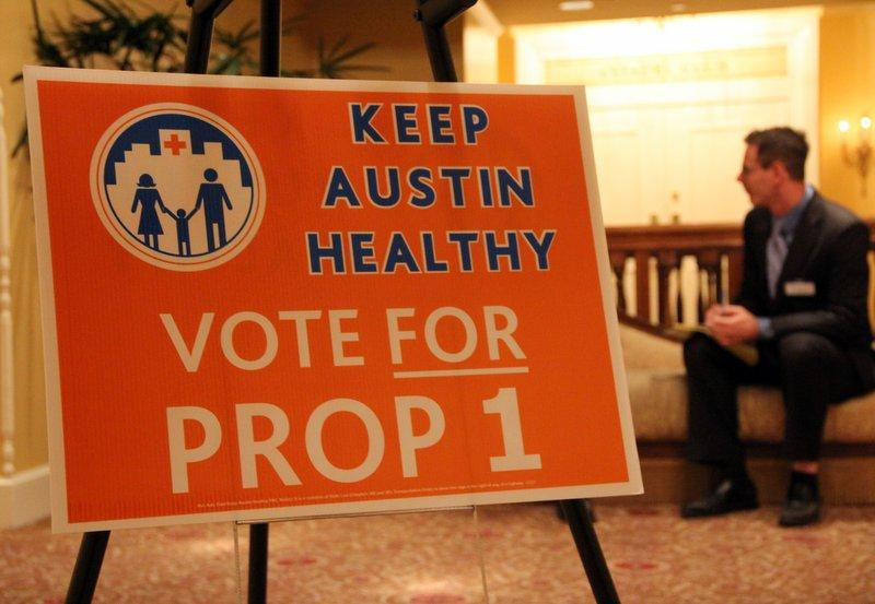 A scene from Prop 1's victory party. A legal battle is brewing over the ballot language for the medical school vote.