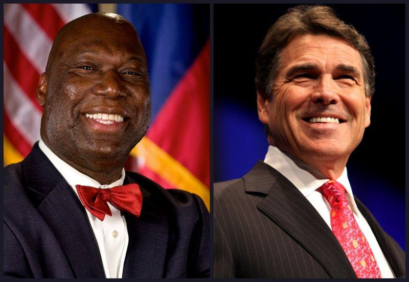 Education Commissioner Michael Williams (left) deferred the STAAR requirement, a day after Gov. Perry (right) suggested so.