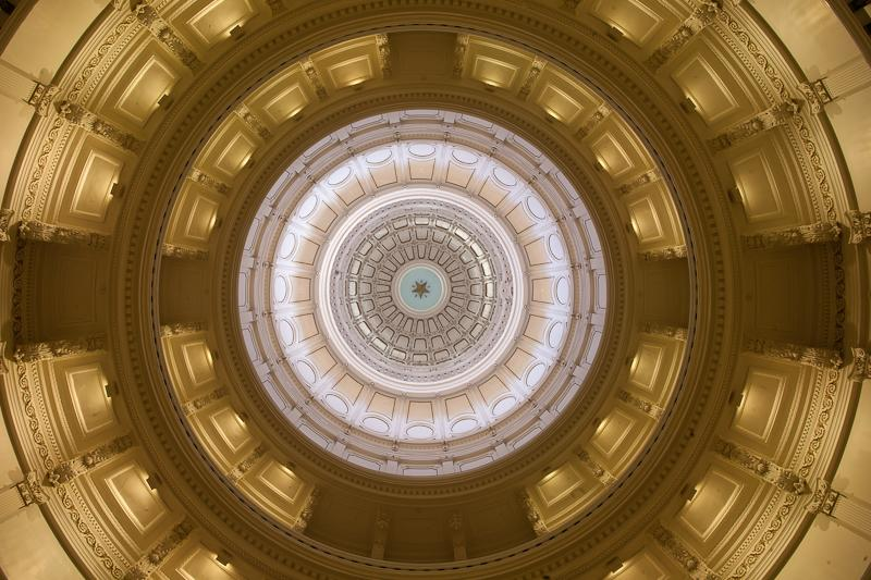 Texas Capitol's dome.