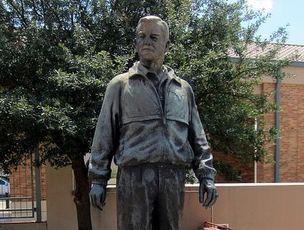 The DKR statue on the UT-Austin campus.