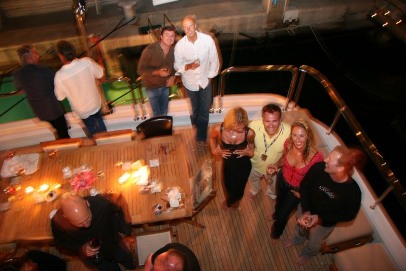 Formula One parties are often held on yachts in Monaco, which has hosted F1 races since 1955. Here's a Monaco Grand Prix party in 2006.