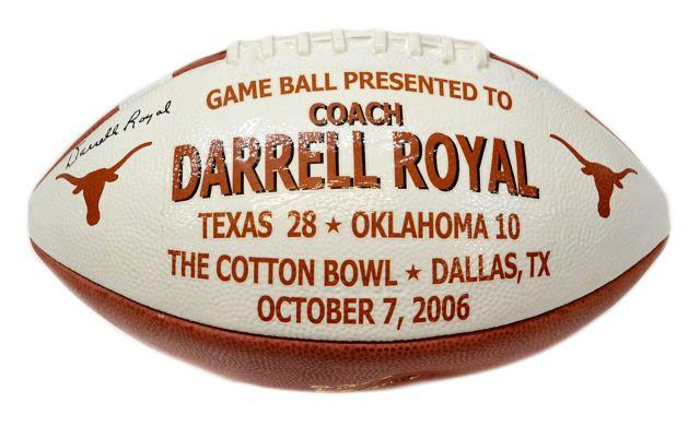 A Texas Longhorn presentation football from the 2006 Cotton Bowl.