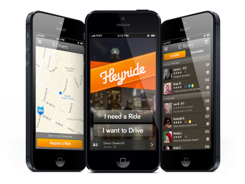 The ride-sharing app HeyRide is now part of SideCar.