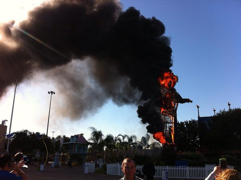 Big Tex was destroyed by an electrical fire at the State Fair this October.