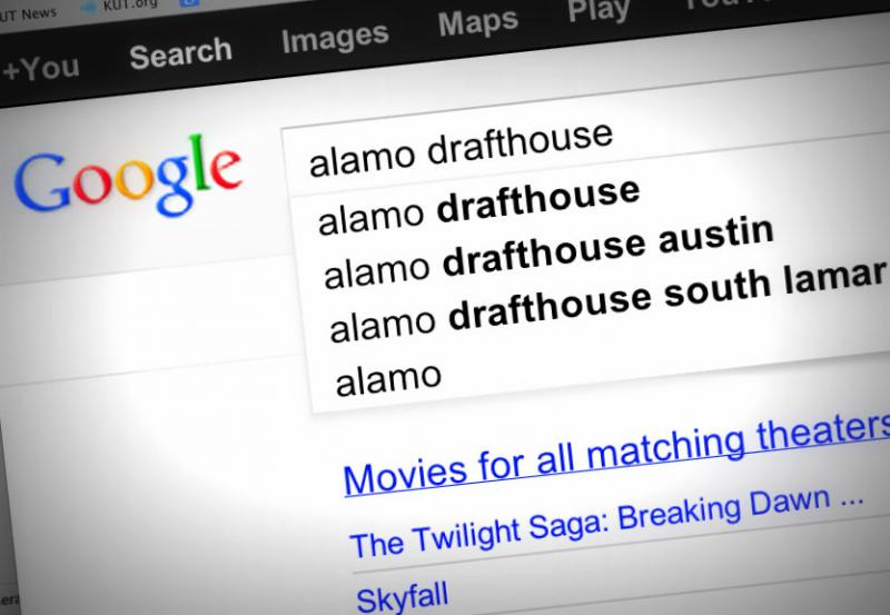 The Alamo Drafthouse was Austin's most searched term in 2012.