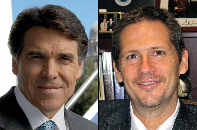 Gov. Rick Perry (left) and Jeffrey Boyd (right)