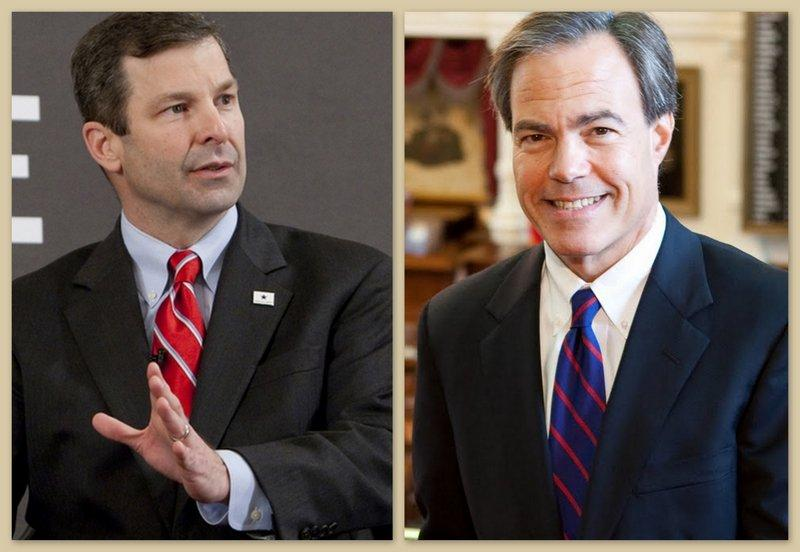 Rep. David Simpson (left) plans to challenge Texas House Speaker Joe Straus (right).