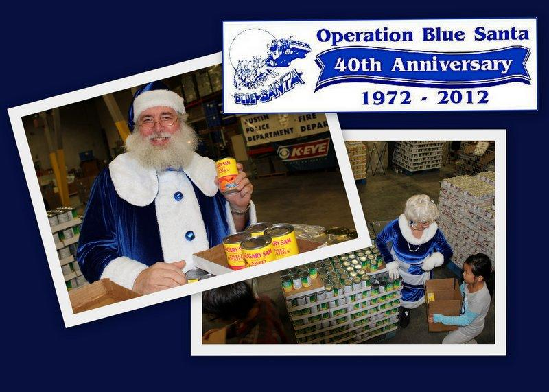 Blue Santa volunteers Mr. and Mrs. Claus at the charity's food bank. The organization is bouncing back after a partner folded amid mysterious circumstances.