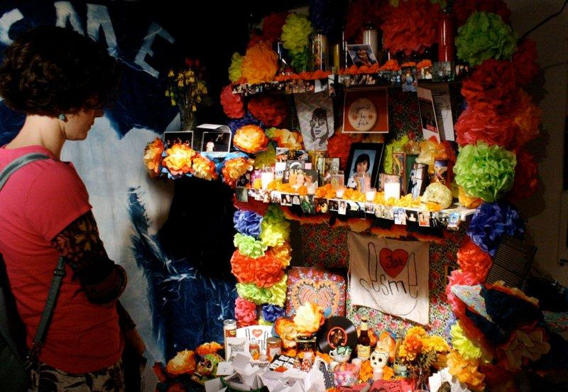 A memorial was set up for Barrera at the Mexic-Arte Museum for Dia de los Muertos.