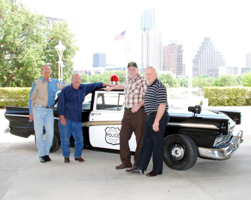 Houston McCoy (second from right) died at home in West Texas on Thursday.