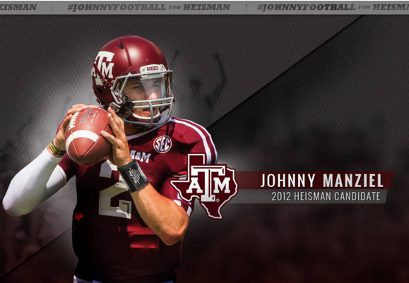 Johnny Manziel may be Texas A&M's first Heisman winner in  almost 50 years.
