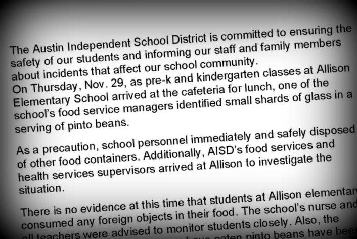 Austin ISD parents were sent a letter describing the findings at Allison Elementary.